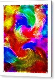 Fractal Turbulence Acrylic Print by Steve Ohlsen