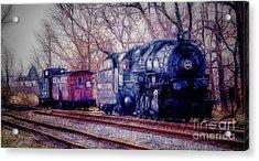 Fractalius Choo Choo Train Acrylic Print by Jim Lepard