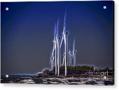 Fractalius Windmills Acrylic Print by Jim Lepard