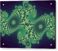 Fractals For Lane  Mapping Acrylic Print by Mary Ann Southern
