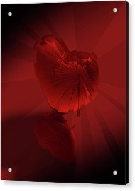 Acrylic Print featuring the digital art Fracture II by Jeremy Martinson