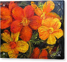 Fractured Flowers Acrylic Print
