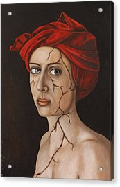 Fractured Identity Edit 1 Acrylic Print by Leah Saulnier The Painting Maniac