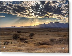 Acrylic Print featuring the photograph Fractured Sky by Beverly Parks