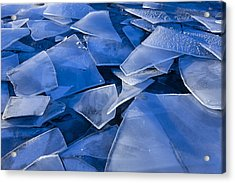 Fractured Surface Ice Drifted To The Acrylic Print by John Hyde