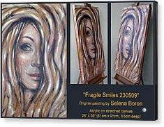 Fragile Smiles 230509 Comp Acrylic Print by Selena Boron