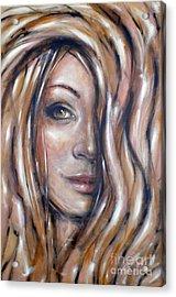 Fragile Smiles 230509 Acrylic Print by Selena Boron