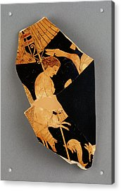 Fragment Of An Apulian Red-figure Bell Krater Black Fury Acrylic Print by Litz Collection