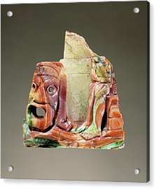 Fragmentary Cameo Sculpture With A Theatrical Mask Acrylic Print