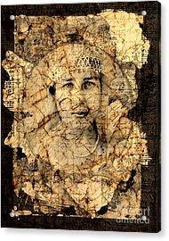 Fragments Acrylic Print by Judy Wood