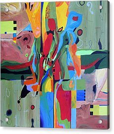 Fragments Number 10 Again Acrylic Print by Randall Weidner
