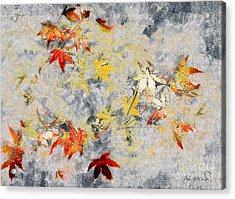 Fragments Of Fall Acrylic Print by RC deWinter