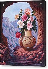 Fragrance And Dew Acrylic Print by Ricardo Chavez-Mendez