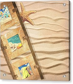 Frame With Postcards Acrylic Print by Amanda Elwell