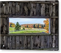Framed-autumn In Vermont Acrylic Print