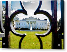 Framed Whitehouse Acrylic Print by Greg Fortier