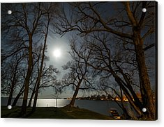 Framing The Moon Acrylic Print by Matt Molloy