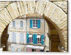 France, Arles, Roman Amphitheater Arch Acrylic Print by Emily Wilson