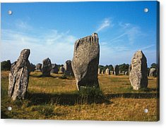 France Brittany Carnac Ancient Megaliths  Acrylic Print by Anonymous