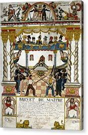 France Fencing, 1825 Acrylic Print