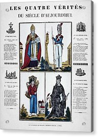France Four Truths, C1825 Acrylic Print by Granger