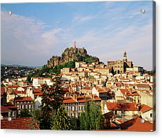 France, Le Puy, Haute Loire, Cathedral Acrylic Print by David Barnes
