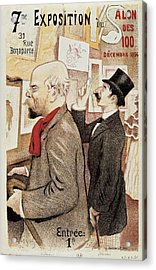 France Paris Poster Of Paul Verlaine And Jean Moreas Acrylic Print