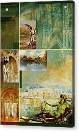 France Unesco World Heritage Poster Acrylic Print by Catf