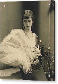 Frances Howard Holding An Ostrich Feather Fan Acrylic Print