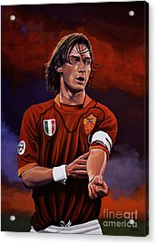 Francesco Totti Acrylic Print by Paul Meijering