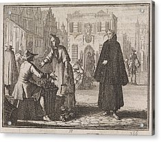 Francis A Jesu Sells Fruit On A Market, Caspar Luyken Acrylic Print