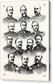 Franco-prussian War German Commanders Alvensleben Acrylic Print