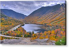 Franconia Notch From Artist's Bluff Acrylic Print