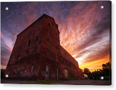 Frank Jones Brewery Sunset Acrylic Print