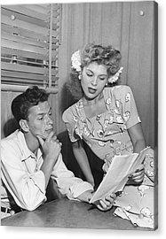 Frank Sinatra & Eileen Barton Acrylic Print