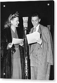 Frank Sinatra And Ann Sheridan Acrylic Print by Underwood Archives