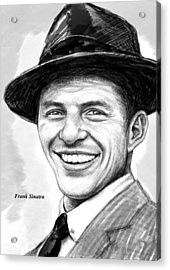 Frank Sinatra Art Drawing Sketch Portrait Acrylic Print