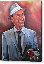 Frank Sinatra Acrylic Print by Mark Robinson