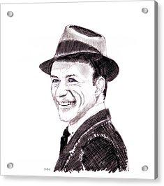 Frank Sinatra Acrylic Print by Martin Howard