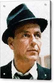 Frank Sinatra Portrait Acrylic Print