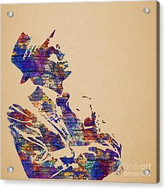Frank Sinatra Watercolor Acrylic Print