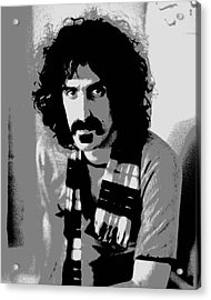 Frank Zappa - Chalk And Charcoal 2 Acrylic Print by Joann Vitali