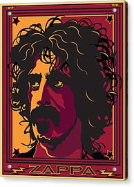 Frank Zappa Acrylic Print by Larry Butterworth