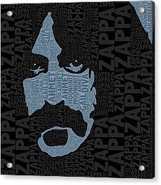 Frank Zappa  Acrylic Print by Tony Rubino