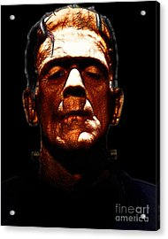 Frankenstein - Black Acrylic Print by Wingsdomain Art and Photography