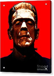 Frankenstein - Red Acrylic Print by Wingsdomain Art and Photography