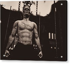 Frankenstein's Science Acrylic Print by Bob Orsillo