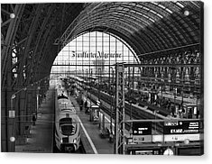 Frankfurt Bahnhof - Train Station Acrylic Print