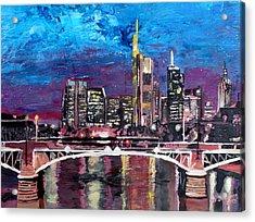 Frankfurt Main Germany - Mainhattan Skyline Acrylic Print by M Bleichner