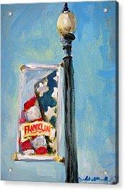 Franklin Banner Acrylic Print